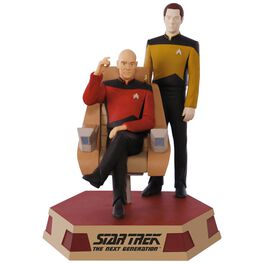 STAR TREK: The Next Generation™ Captain Jean-Luc Picard and Lieutenant Commander Data Sound Ornament, , large