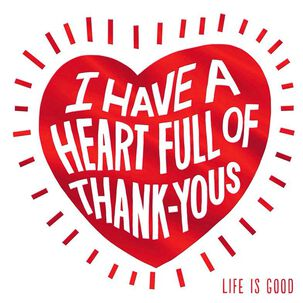 Life is Good® Heart Full of Thank-Yous Card
