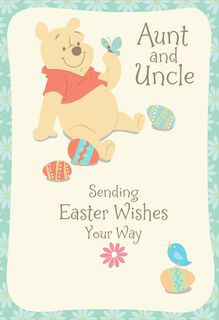 Winnie the Pooh Easter Card for Aunt and Uncle,