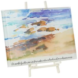 To Walk by the Sea Glass Plaque, , large