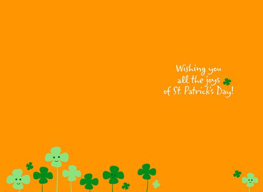 Smiling Shamrocks St. Patrick's Day Card,