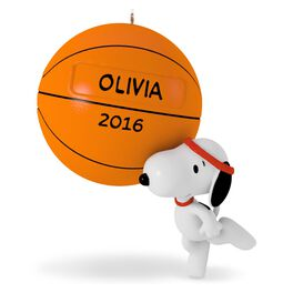 Slam Dunk Snoopy Basketball Ornament, , large