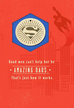 Superman™ Amazing Dad Father's Day Card With Keychain