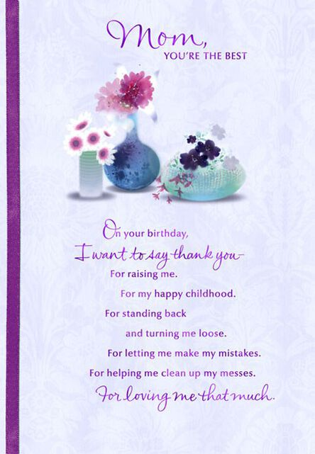 Mom Youre The Best Birthday Card Greeting Cards Hallmark