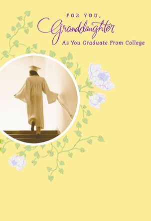 Forever Loved Granddaughter College Graduation Card