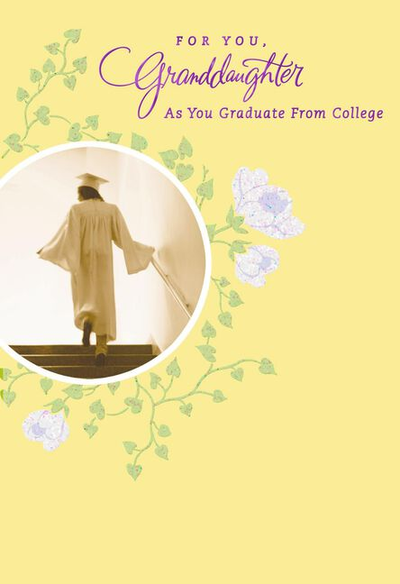 Forever Loved Granddaughter College Graduation Card Greeting Cards