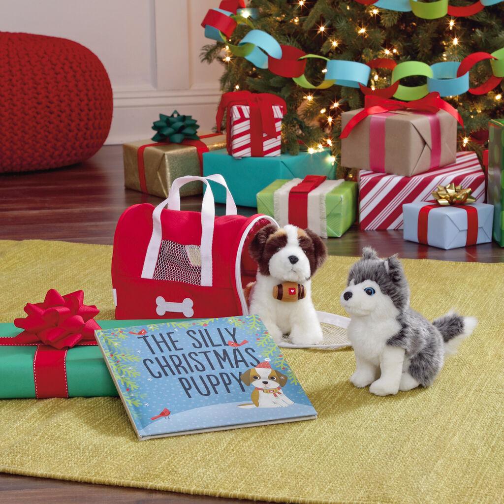 Christmas Puppies Gift Set - Classic Stuffed Animals - Hallmark