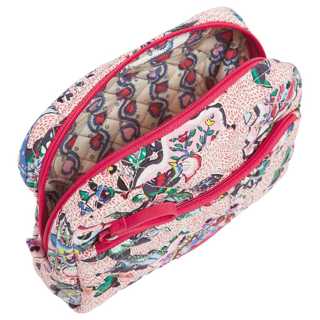 be38d6b562 Vera Bradley Iconic Medium Cosmetic Bag in Stitched Flowers - Travel ...