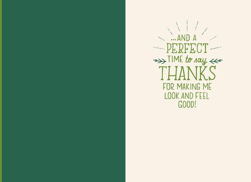 Spa Professional Thank You Christmas Card,