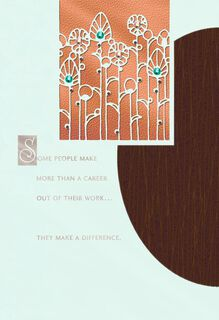 You Made a Difference Retirement Card,