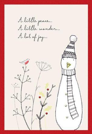 Simple Snowman Christmas Card