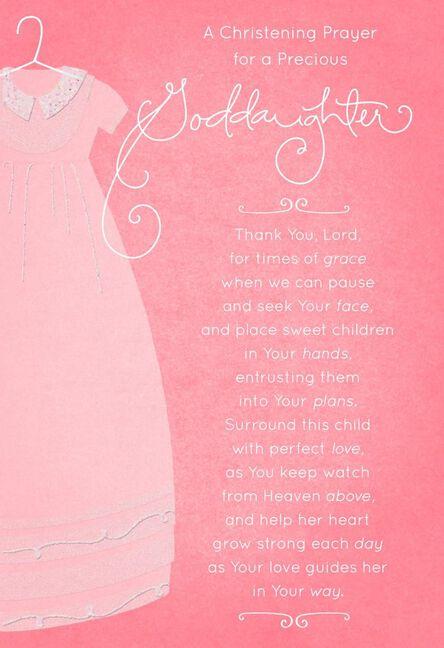 Pink gown christening card for goddaughter greeting cards hallmark pink gown christening card for goddaughter m4hsunfo