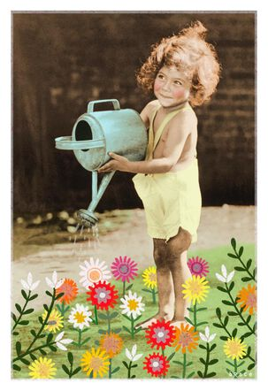I Just Wet My Plants Funny Birthday Card