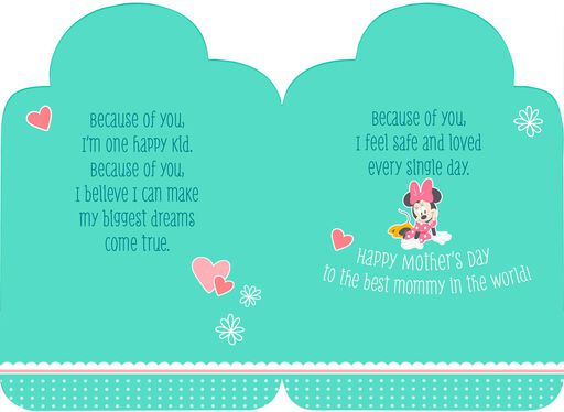 Minnie Mouse Mother's Day Card From Daughter,