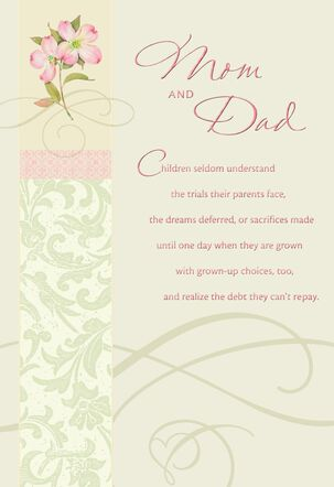 Love and Pride Anniversary Card for Mom and Dad