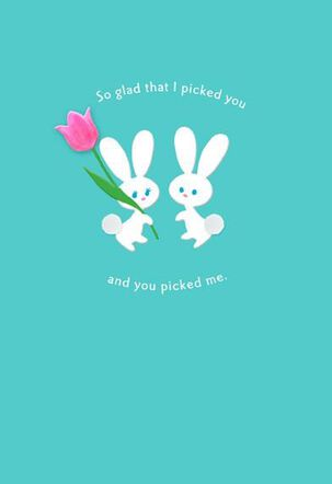 Picked You Husband Easter Card