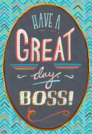 To Our Leader Boss's Day Card