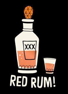 Red Rum Potion Halloween Card,