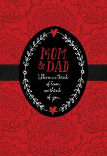 Mom and Dad From Us Valentine's Day Card,