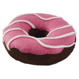 Pink-iced Donut Premium Stuffed Animal, , large