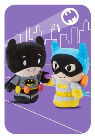 BATMAN™ and BATGIRL™ itty bittys® Greetings Easter Card