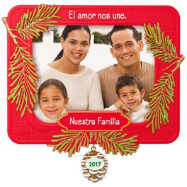 Nuestra Familia Picture Frame Ornament, , large