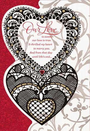 Lace Hearts Religious Valentine's Day Card for Wife