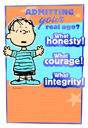 Honesty, Courage, Integrity Linus Birthday Card
