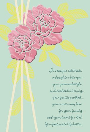Celebrate You, Daughter Religious Mother's Day Card