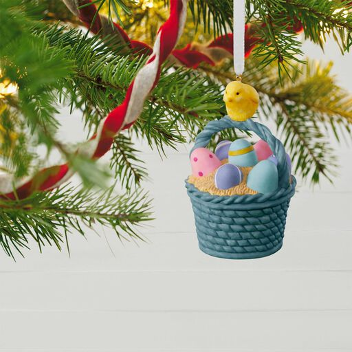 Easter cards gifts ornaments hallmark marjolein bastin easter basket ornament negle Images