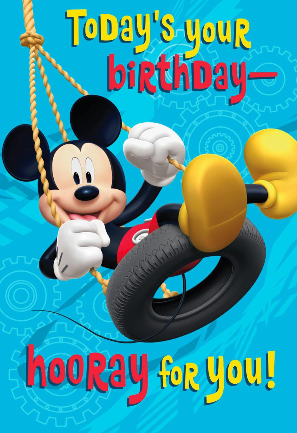 Mickey Mouse Hooray For You Musical Birthday Card Greeting Cards
