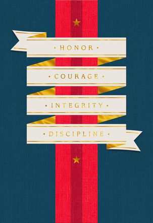 Honor, Courage, Integrity Military Congratulations Card