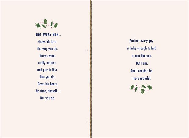 Romantic Christmas Card for the Man You Love
