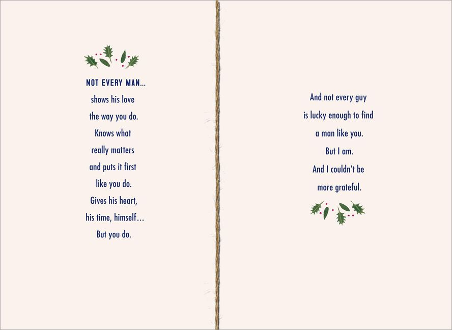 Romantic christmas card for the man you love greeting cards hallmark romantic christmas card for the man you love m4hsunfo