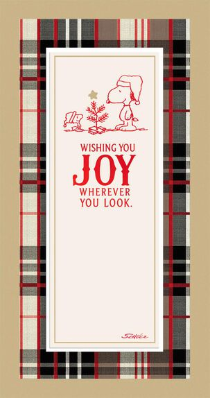 Peanuts® Snoopy and Woodstock Joy Money Holder Christmas Card