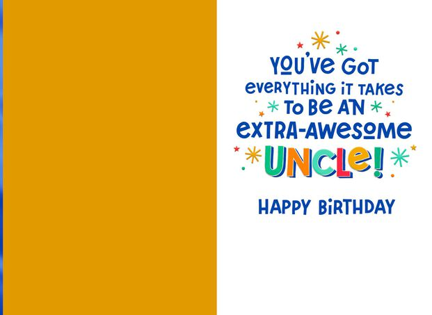 Extra Awesome Birthday Card For Uncle