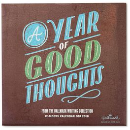 A Year of Good Thoughts 2018 Wall Calendar, 12-Month, , large