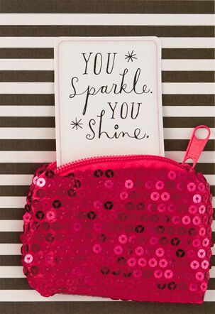 Sparkly Coin Purse Birthday Card