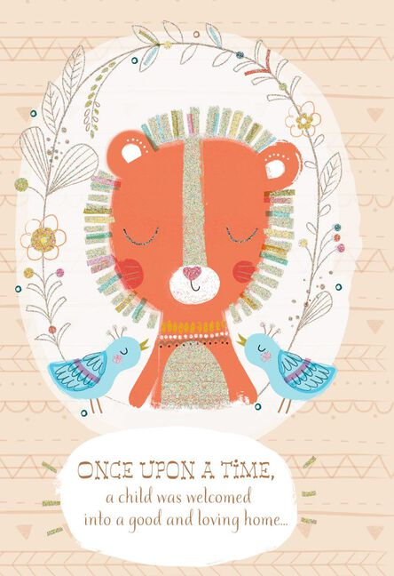 once upon a time baby congratulations card - Baby Congrats Card