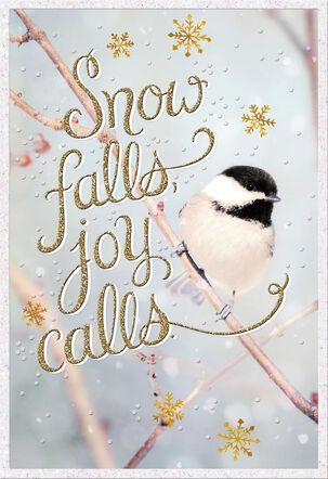 Chickadee Song Christmas Card