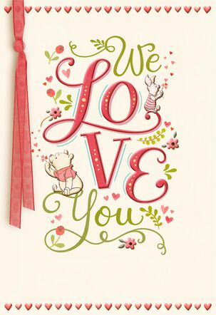 Winnie the Pooh We Love You Valentine's Day Card