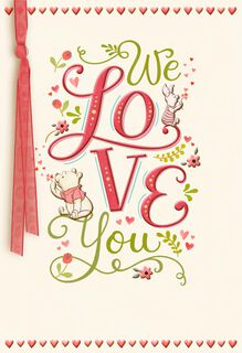 Winnie the Pooh We Love You Valentine's Day Card,