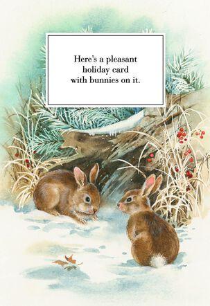 Pleasant Bunnies Christmas Card