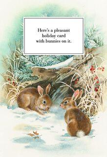 Pleasant Bunnies Christmas Card,
