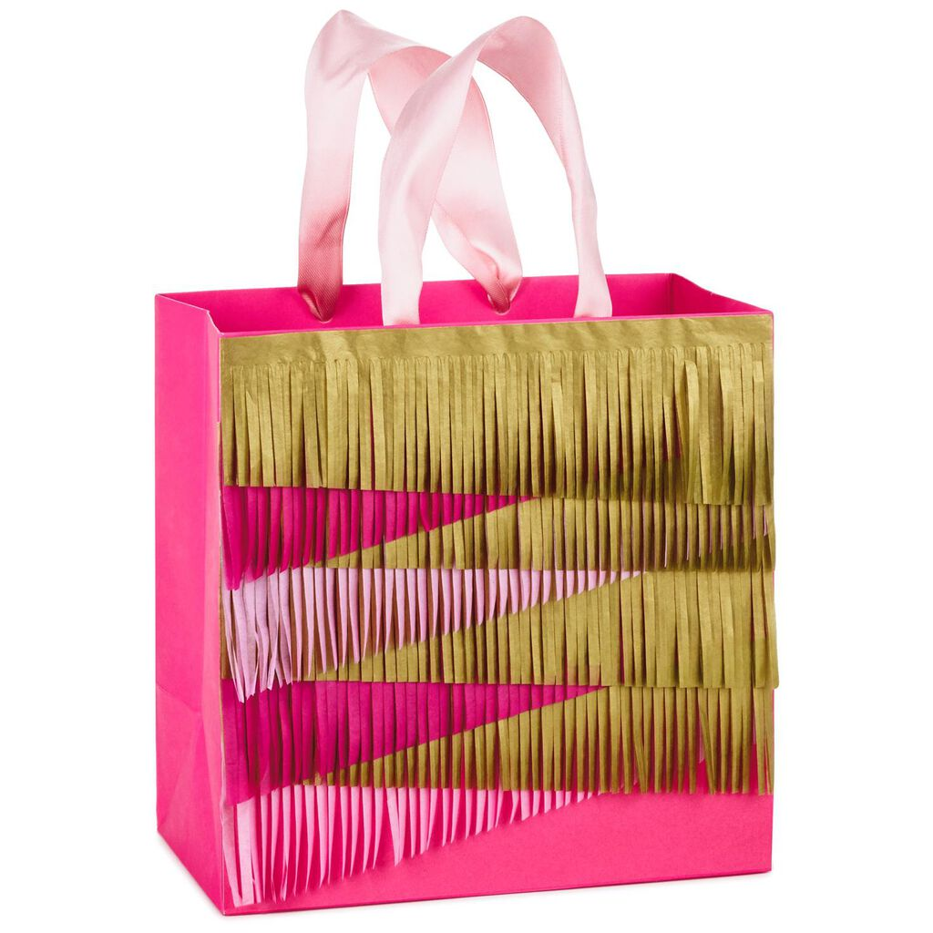 """layered tissue paper medium square gift bag, 7.75"""" h - gift bags"""