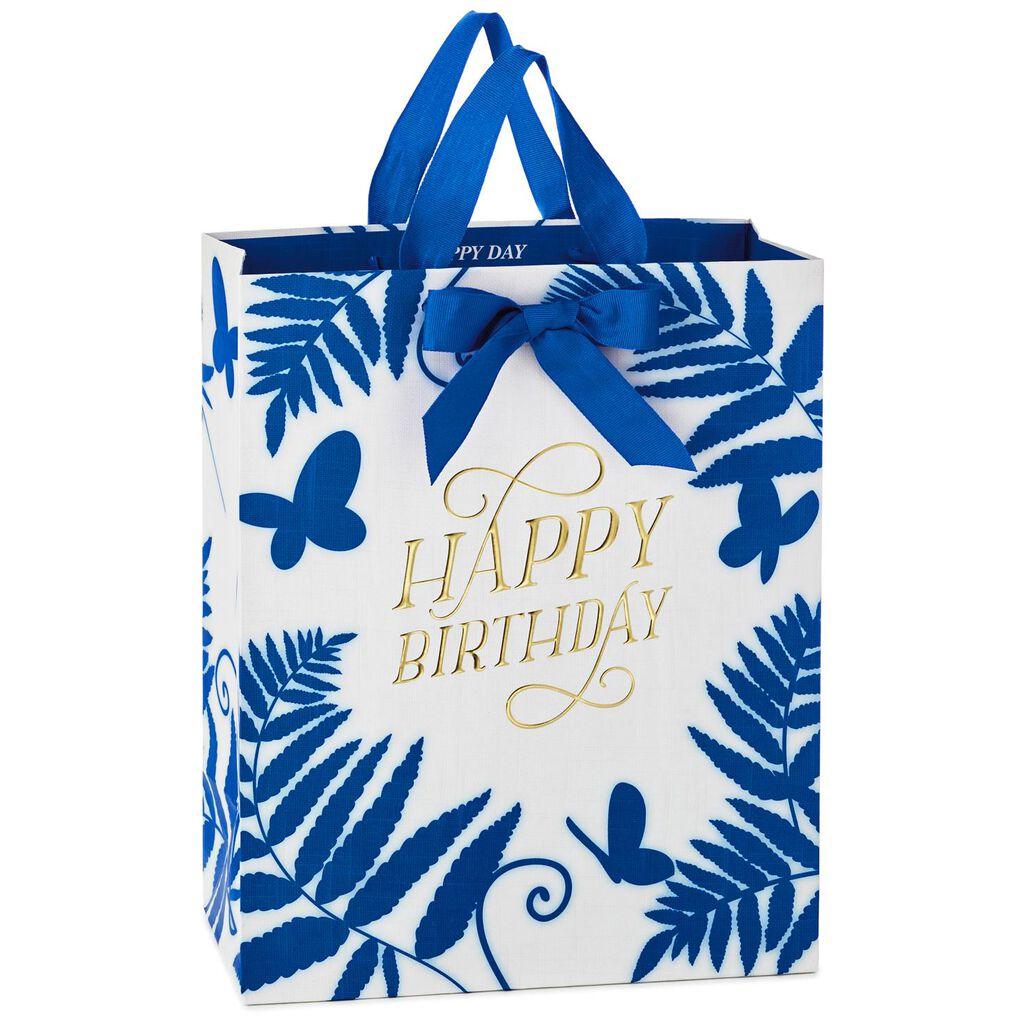 Blue Fern Large Birthday Gift Bag
