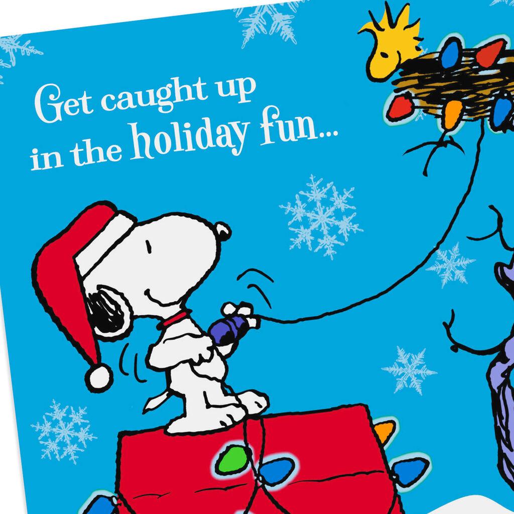 Peanuts Christmas Musical.Peanuts Snoopy Holiday Fun Musical Christmas Card