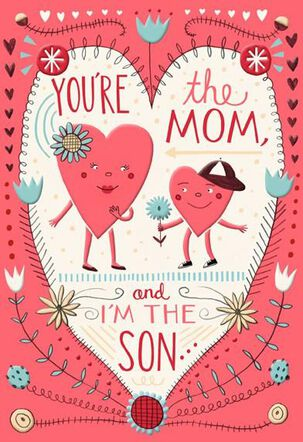 Lucky You're My Mom Valentine's Day Card