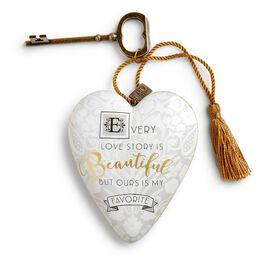 """Love Story Art Heart Sculpture, 4"""", , large"""