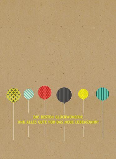 Alles Gute zum Geburtstag German-Language Birthday Card,